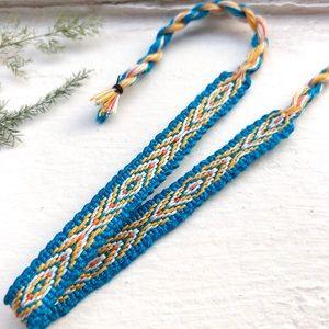 Jewelry - 3 for $12 ➤ Blue/Golden Boho Woven Bracelet